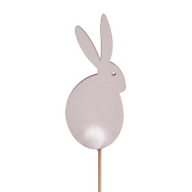 Sweet Bunny 7cm on 10cm stick white