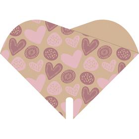 Hoes Doublé Culture Love 35x35cm FSC Mix roze