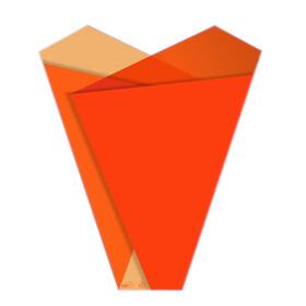 Sleeve Teagan 50x35x10cm orange