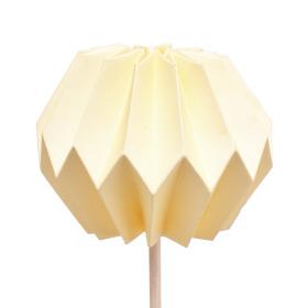Pompon 7,5cm op 50cm stok geel