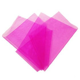 ORGANZA 20X28IN  WITH 3IN HOLE NO EDGE HOT PINK