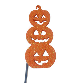 Halloween Jack Stack 5.5x2.6 in on 20 in stick
