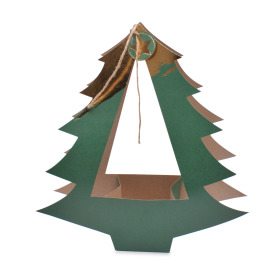 Gift bag Christmas Tree  37x12x40cm green