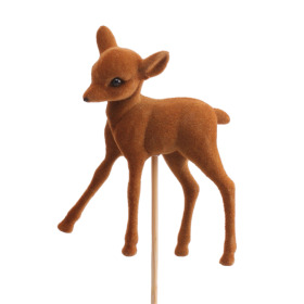 Reindeer Benjamin 10cm on 50cm stick brown