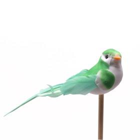 Vogel Lady 6cm op 50cm stok groen