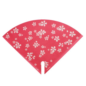 Sleeve Floral Stamp 35x35cm red