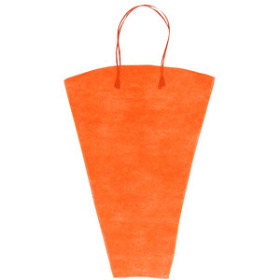 Flowerbag Nonwoven 19x14x5 in orange