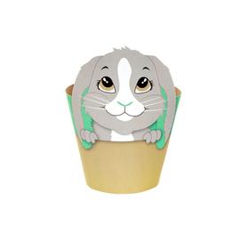 """Potcover Bunny 4"""" green"""