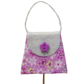 Purse on 20 in stick pink