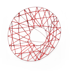 Bouquetholder X-mas Wire Ø25cm red