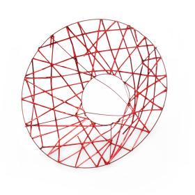 Boekethouder X-mas Wire Ø25cm rood