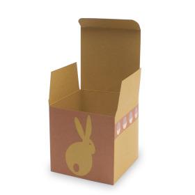 Cadeaudoosje Bunny Hop 11x11x11cm geel