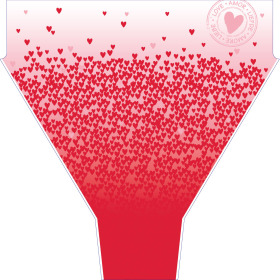Sleeve Million Hearts 50x35x10cm red/pink