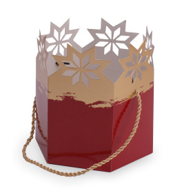 Carrybag Magic Christmas Ø15x17,5cm red