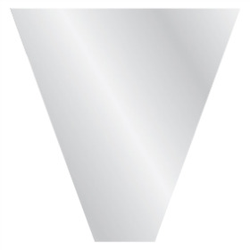 Sleeve V-Shape 70x70x20cm BOPP40 transparent