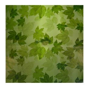 Fall Leaves 24x24in green