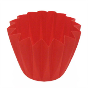 Cupcake container 5.5 in red (Carmine)