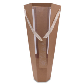 Tube Floral Gift 20x11x52,5cm naturel