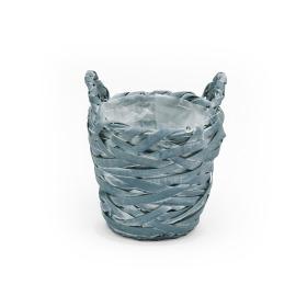 Basket Tess Ø15 H14cm ocean blue