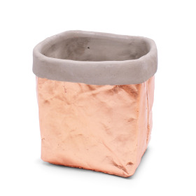 Ceramic Pot Kathia 14x13.3cm H14.5cm pink champagne