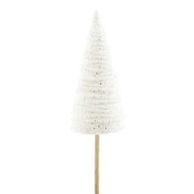 Tree Aurora 12cm on 50cm stick white