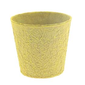 "Paper Pulp Pot Carta 4"" yellow"