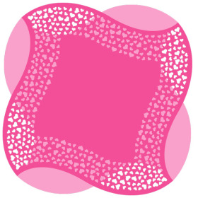 Artline Hearts Sheet 24x24 in pink