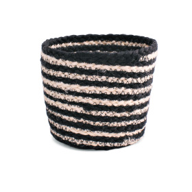 Pot basket Black&White Ø18 H16cm