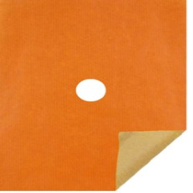 KRAFT 20X24 IN 50GRS ORANGE WITH HOLE