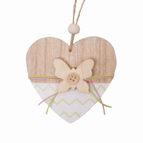 Heart Butterfly 8cm white