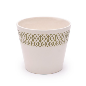 Ceramic Pot Tribal 4 in green