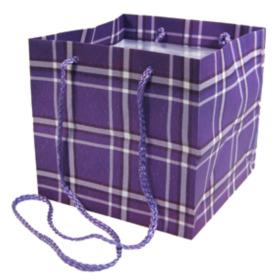 Carrybag Plaid 16x16x16cm llilac