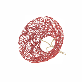 Bouquet holder Paperweb Ø20cm red