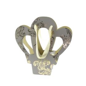 Cadeautas Crown Ornaments 35x14x39cm grijs