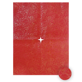 Impress Heart 20x28 in red + x