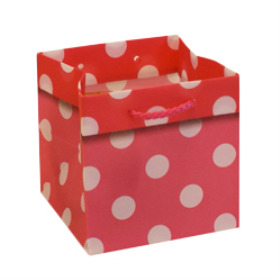 CARRYBAG POLKA DOTS 5X5X5 IN PINK