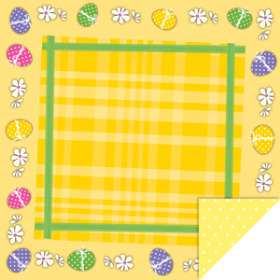 Easter Picnic 24x24 in yellow
