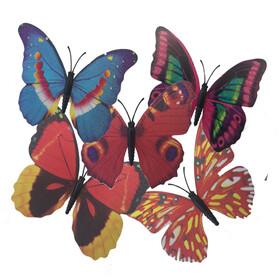 Butterfly Bianca Shiny Assorted 10cm on 50cm stick