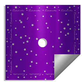 Celebrate 24x24in purple H3