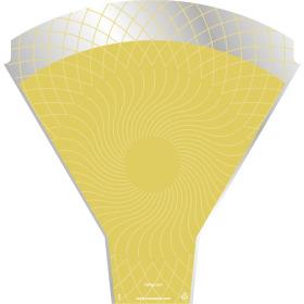 Sleeve Rising Sun 54x35x10cm yellow