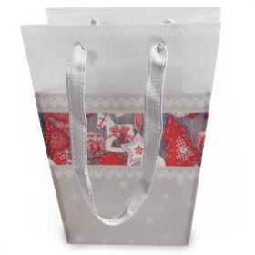 Carrybag Christmas 17/13x11/11x20cm gray