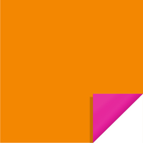Bi-Color Sheet 24x24in orange / hot pink