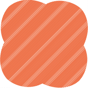 Sheet Stripes&Hypes 80x80cm orange