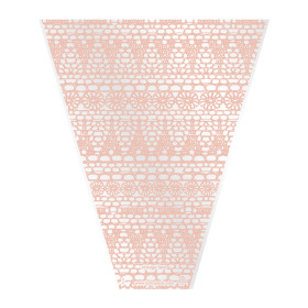 Sleeve Vintage Lace V-shape 40x30x10cm salmon