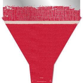 VINTAGE RAG 21X17X5 IN RED