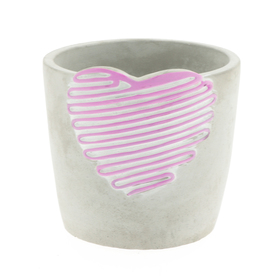 Beton pot Love Signature ES12 roze