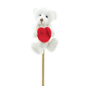 Beary Special 8cm op 50cm stok wit