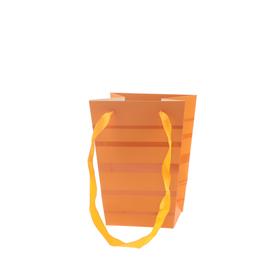 Draagtas Ellen 15/15x11/11x20cm FSC Mix oranje
