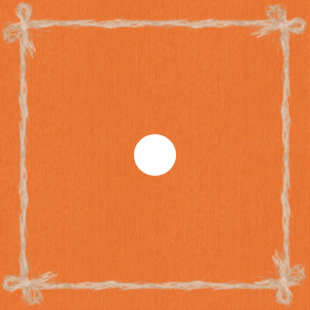 Raff 24x24in orange H3