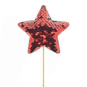 Star Cheerzz 10cm on 10cm stick red